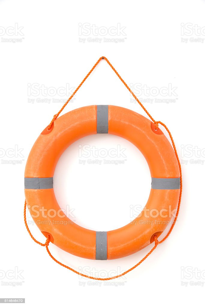 Safety tube in white background isolated stock photo