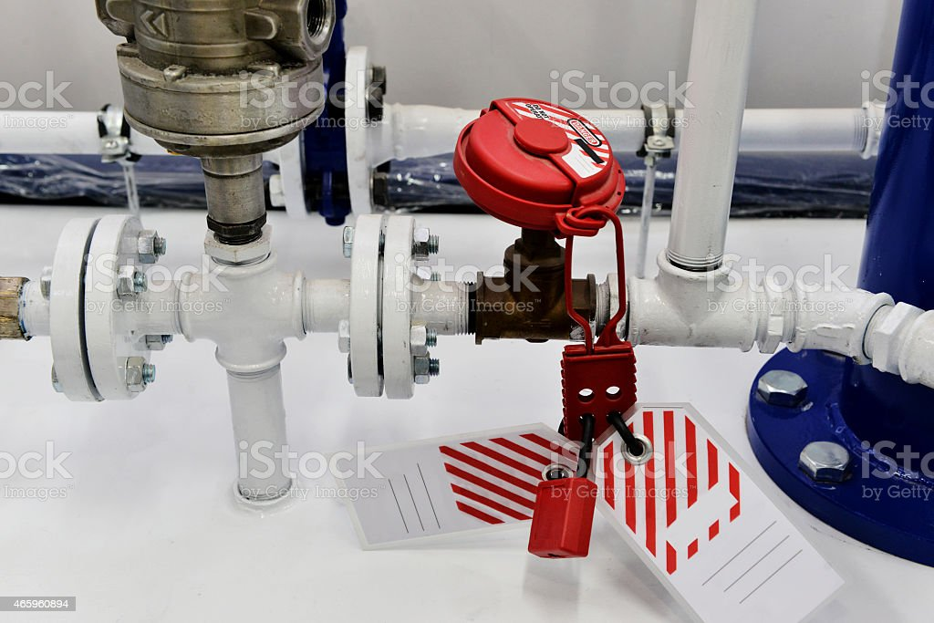 Safety valve protection cover stock photo