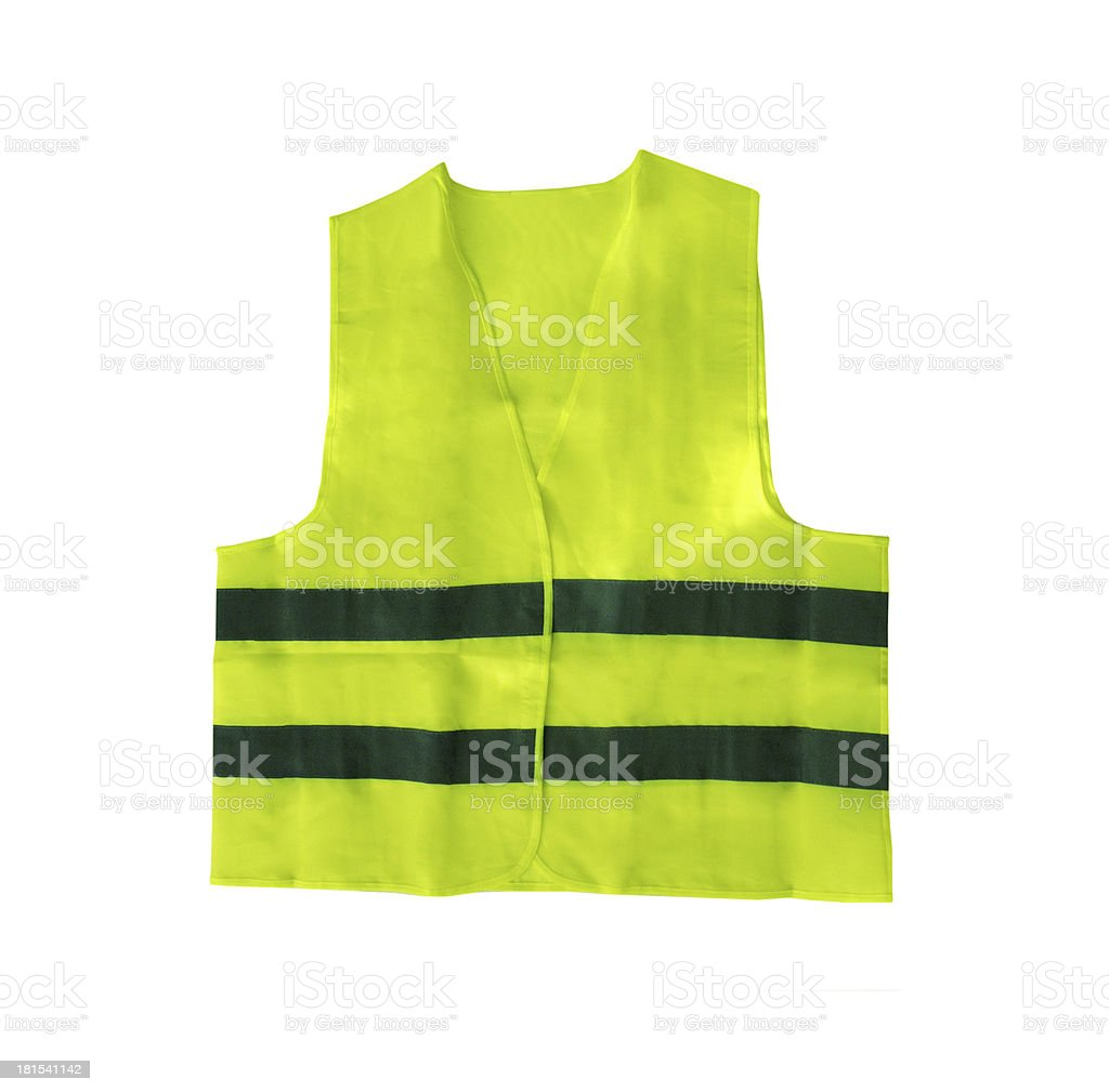 Safety vest isolated royalty-free stock photo