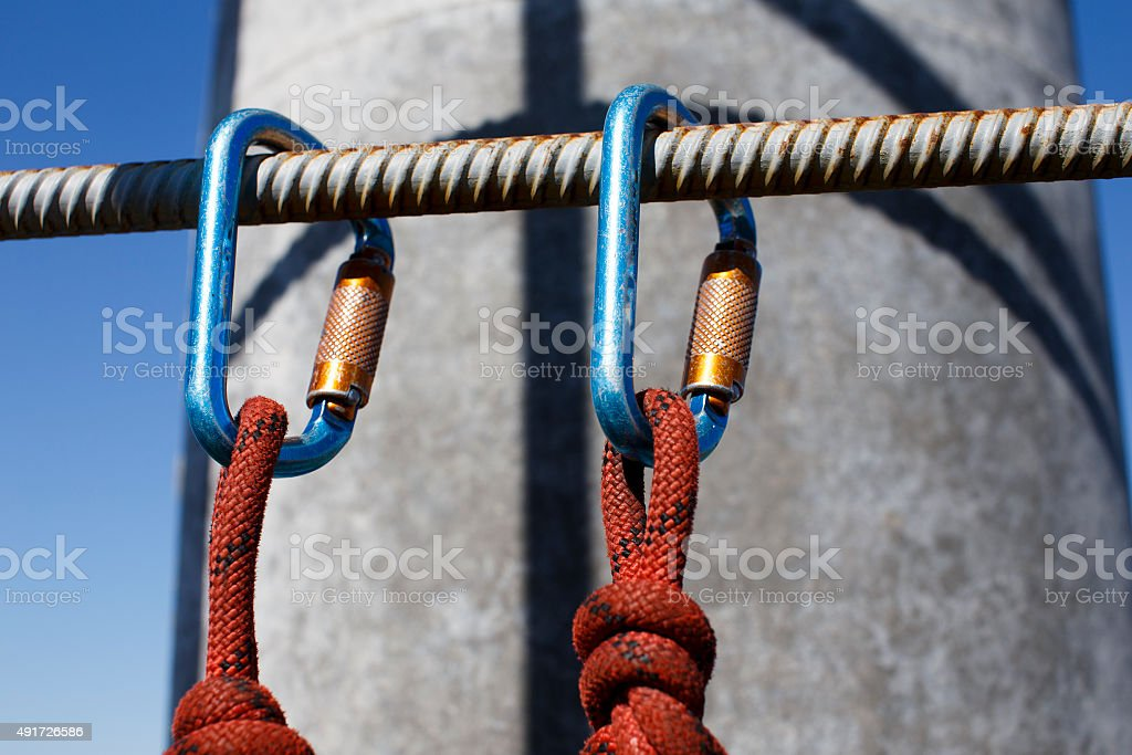 safety when working at height stock photo