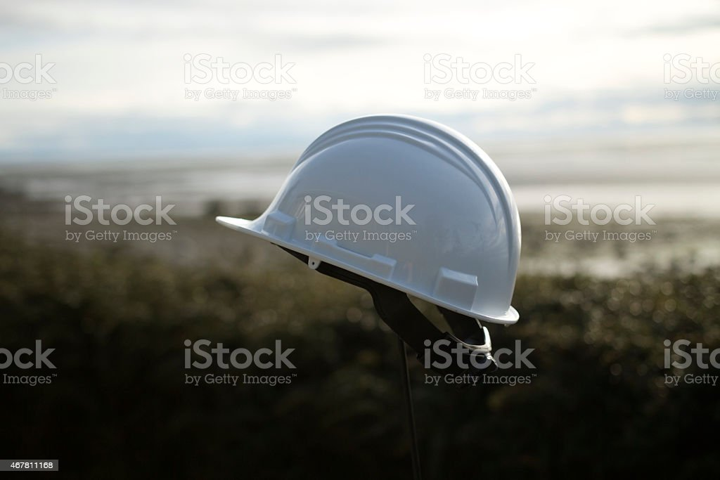 Safety with hardhat stock photo