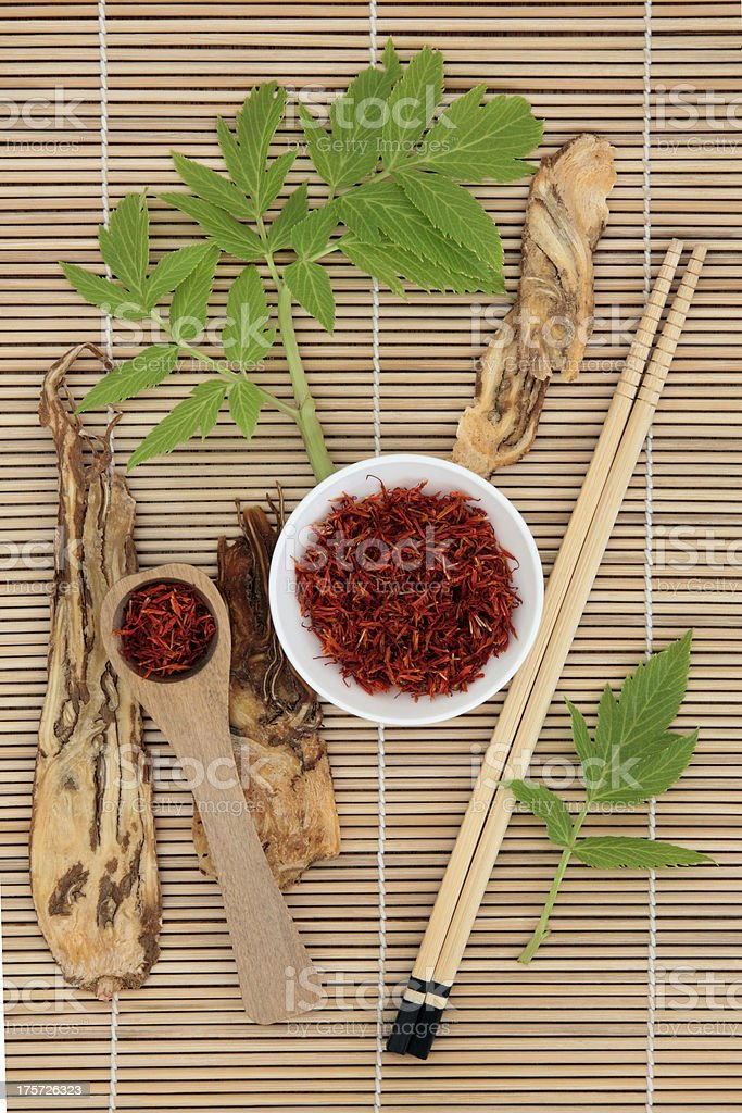 Saffron and Angelica royalty-free stock photo