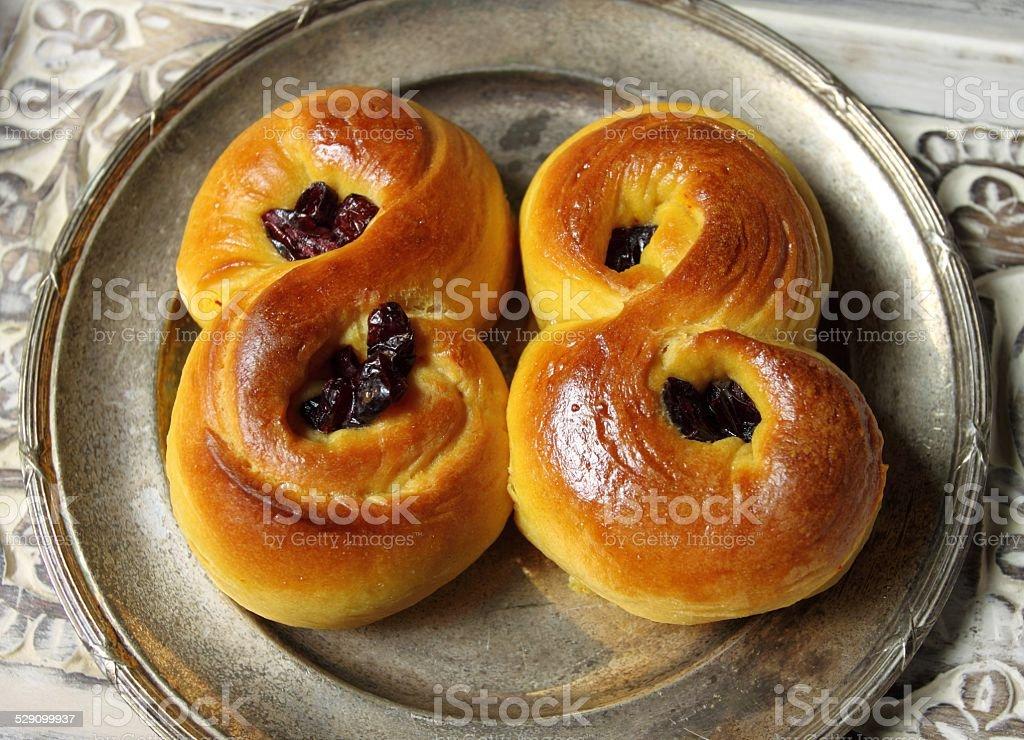 Saffron buns stock photo