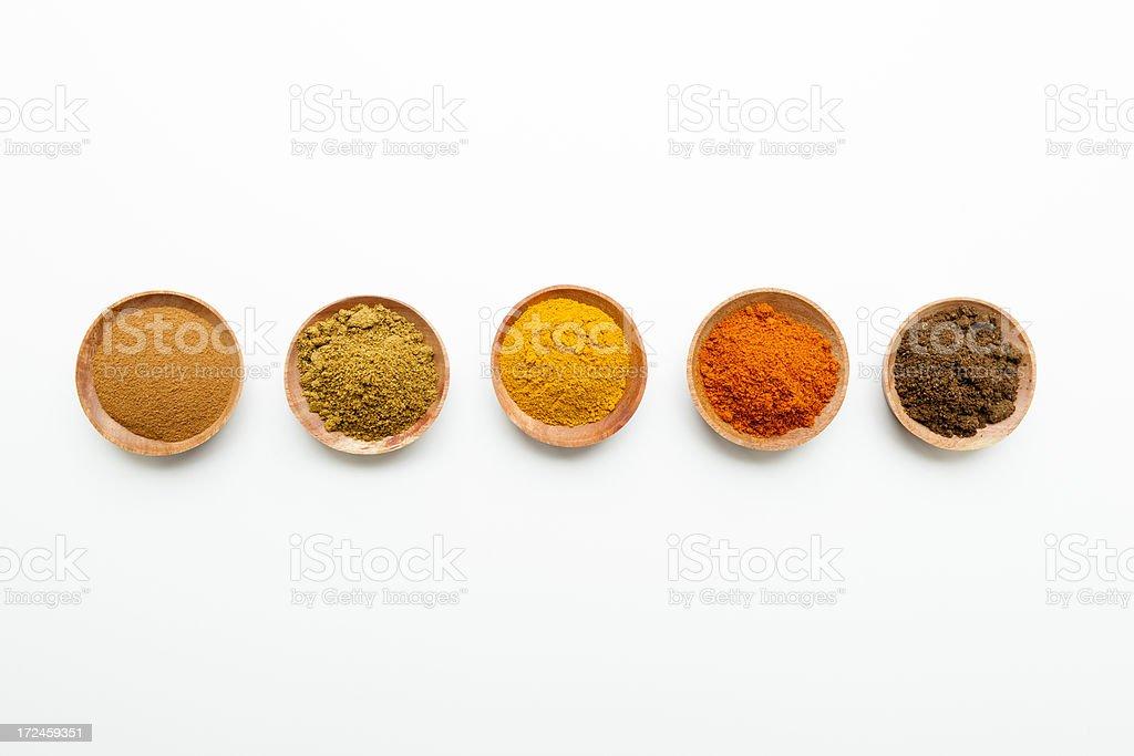 Saffron Chili Powder Garam Masala Spices royalty-free stock photo