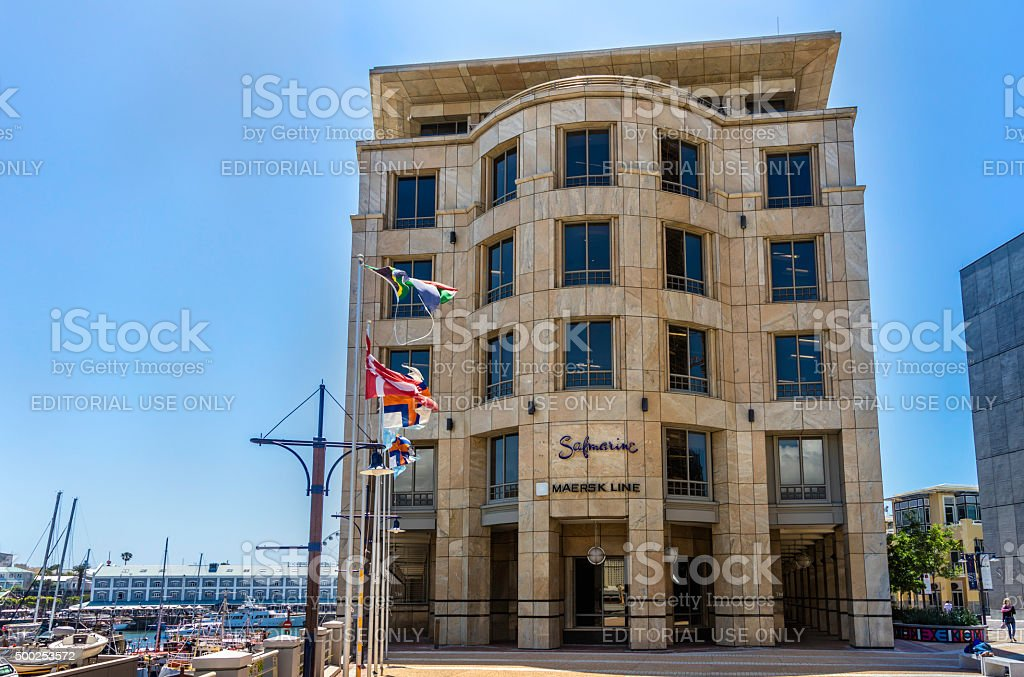 Safmarine Maersk Building at V&A Waterfront, Cape Town stock photo