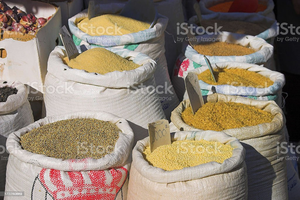 Safran, pepper, spices royalty-free stock photo