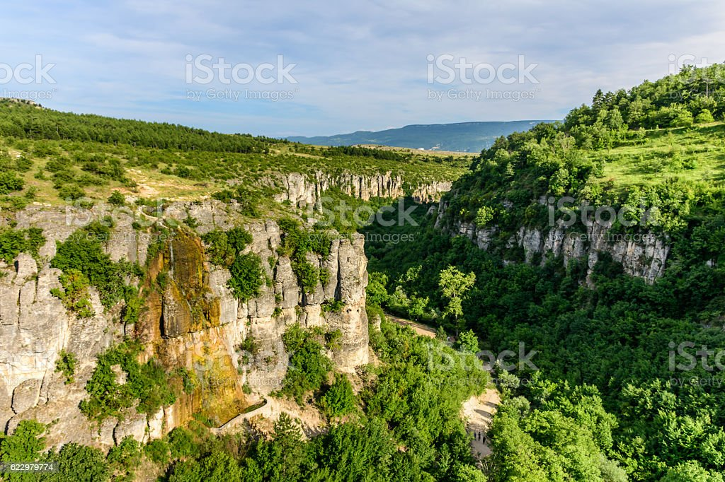 Safranbolu canyon stock photo