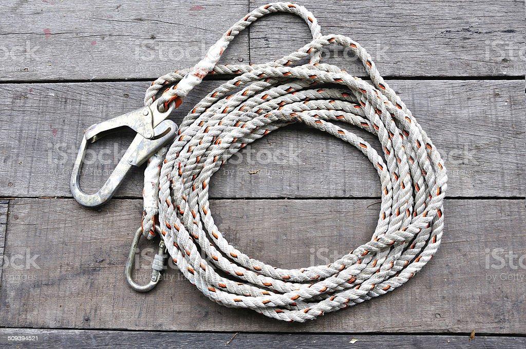 Safty rope royalty-free stock photo