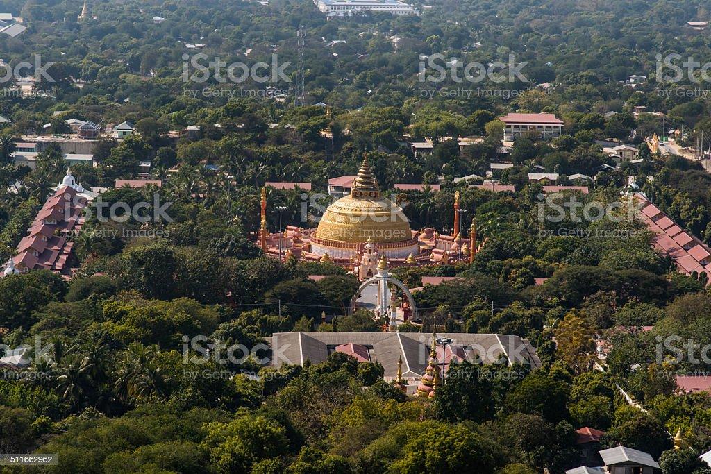 Sagaing City,Mandalay Myanmar,Burmar stock photo