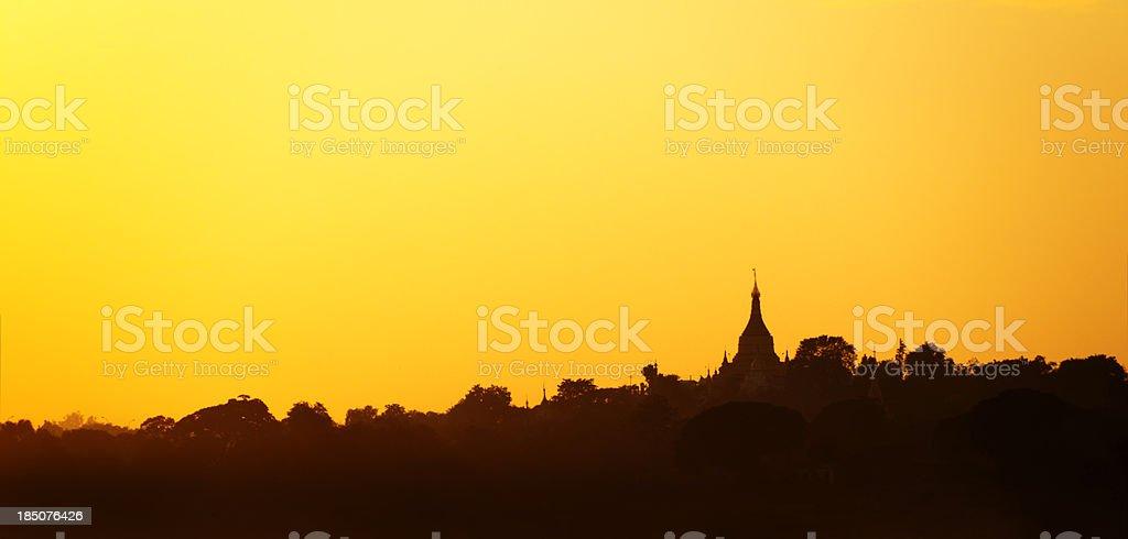 Sagaing Hill, Myanmar royalty-free stock photo