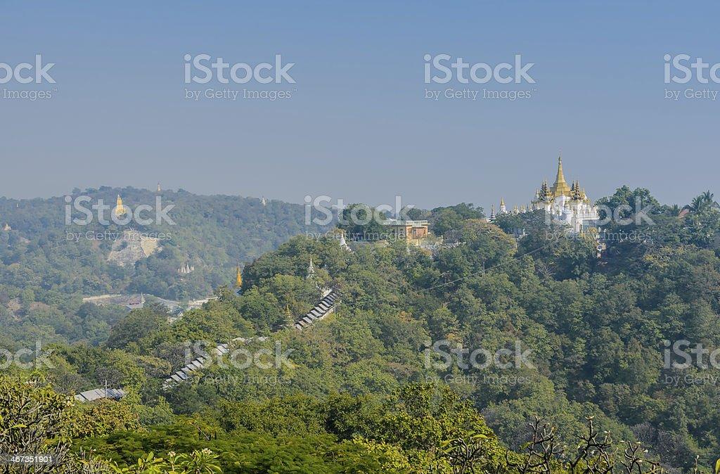 Sagaing hill, Myanmar stock photo