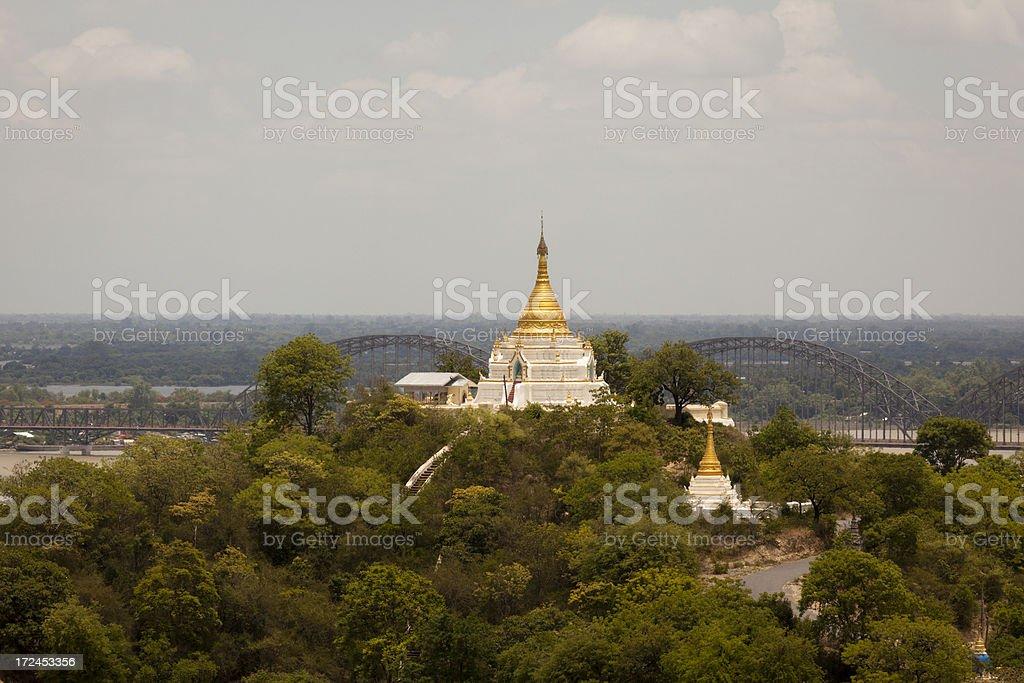 Sagaing Hill Pagoda stock photo