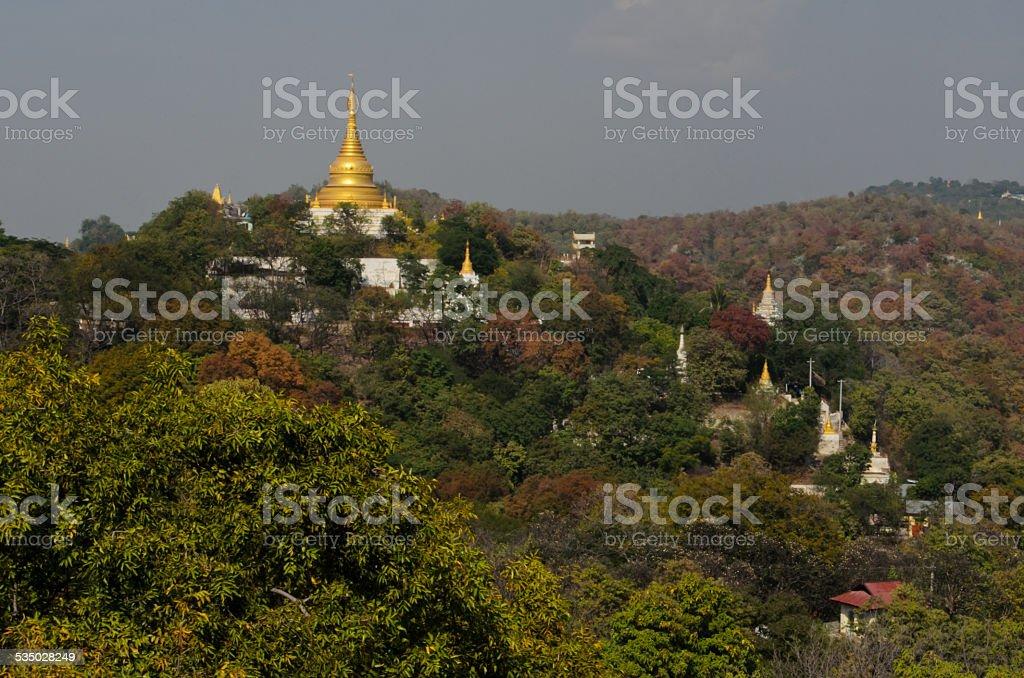 Sagaing Hill Temple, Myanmar stock photo
