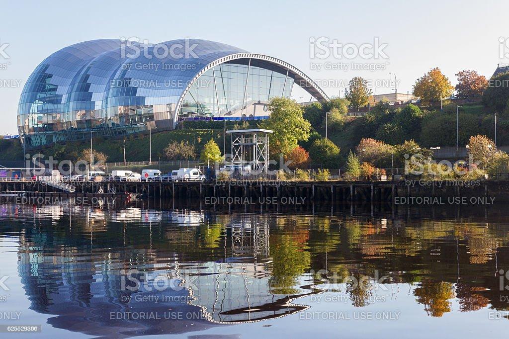 Sage Gateshead concert hall on Newcastle Gateshead Quayside stock photo