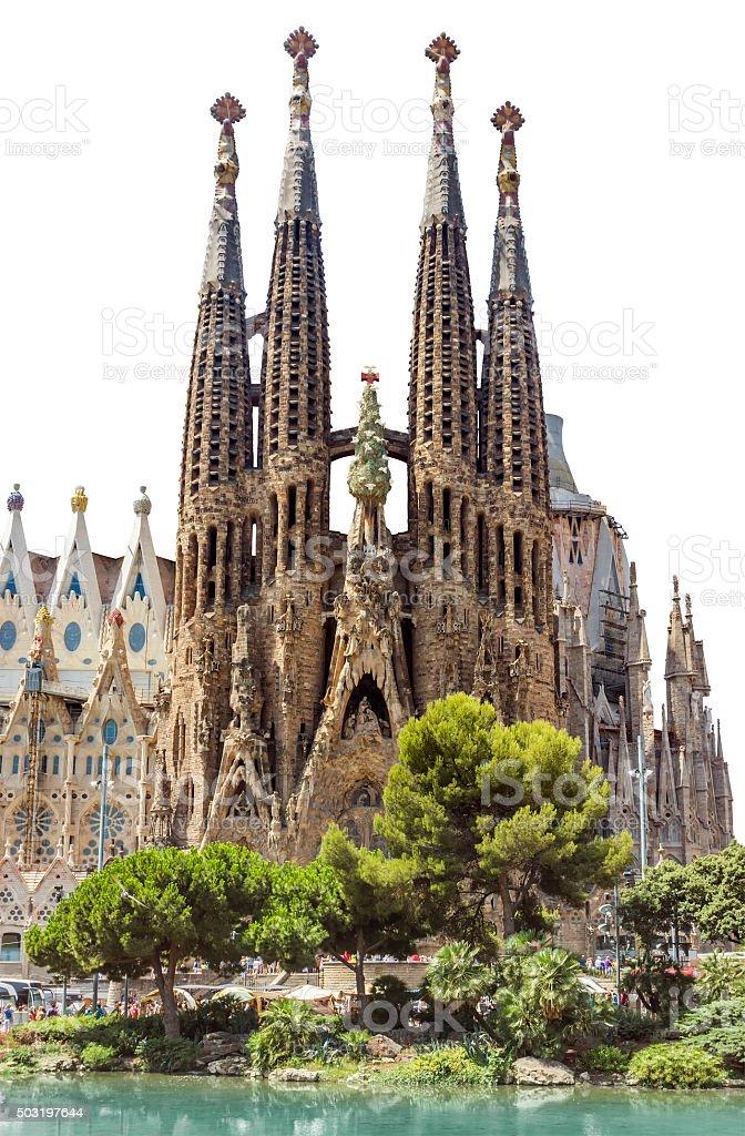 Sagrada Familia Barcelona isolated stock photo