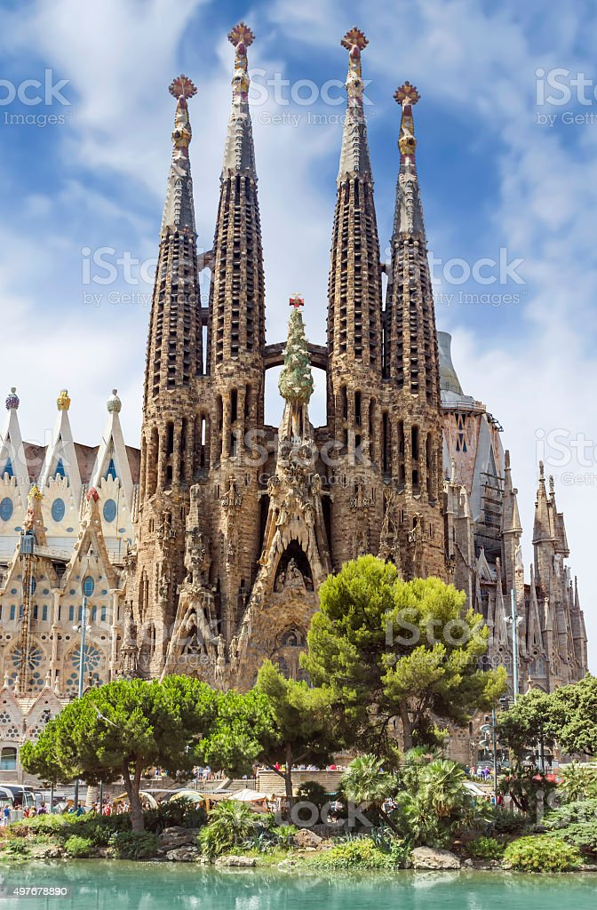 Sagrada Familia Barcelona stock photo
