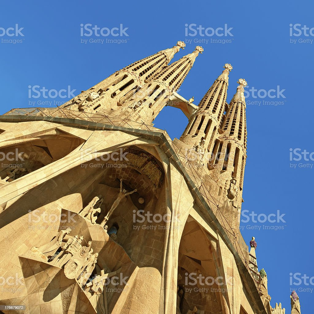 Sagrada Familia, Barcelona - Spain royalty-free stock photo