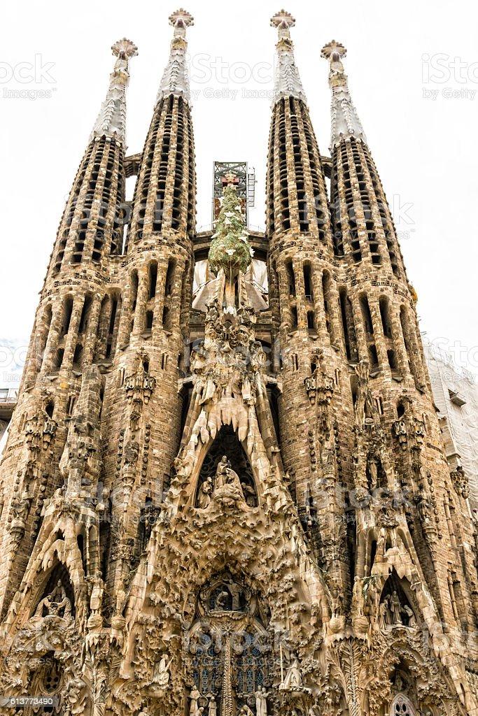 Sagrada Familia basilica, designed by Antoni Gaudi, Barcelona, C stock photo