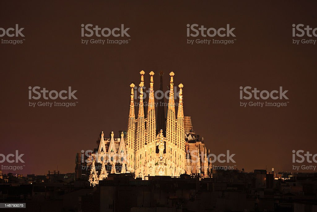 Sagrada familia cathedral in Barcelona, Spain royalty-free stock photo