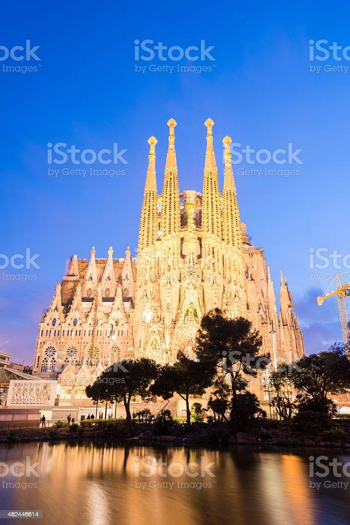 Sagrada Familia Cathedral in Barcelona Spain stock photo