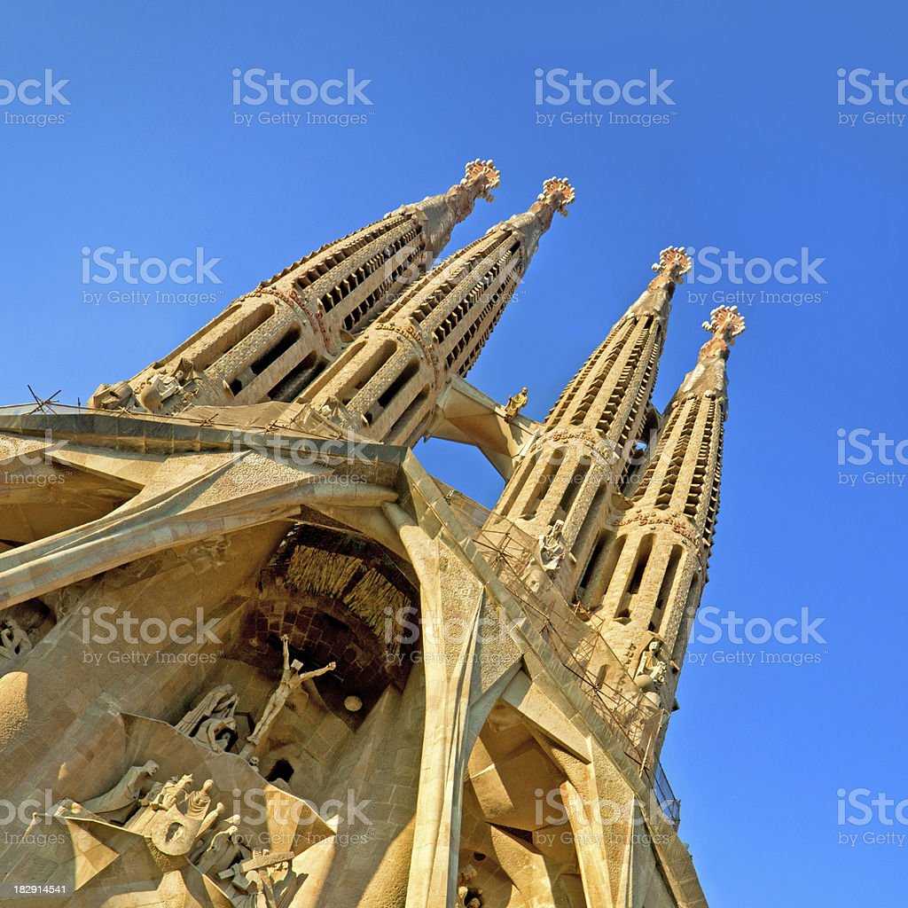 Sagrada Familia in Barcelona royalty-free stock photo
