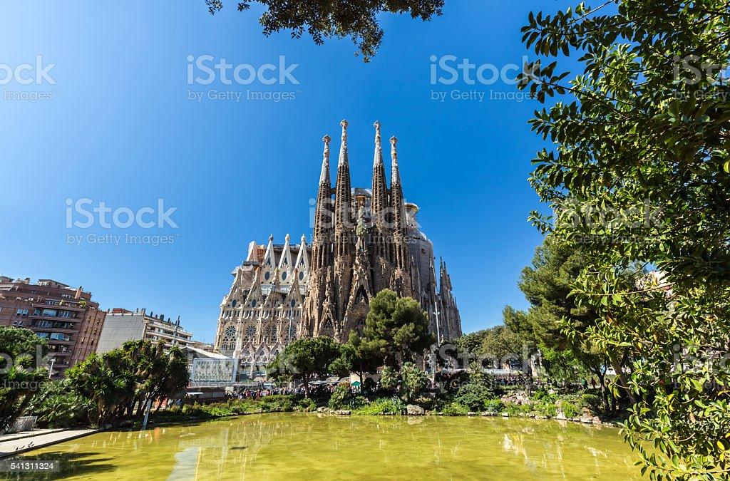 Sagrada Familia in Barcelona stock photo