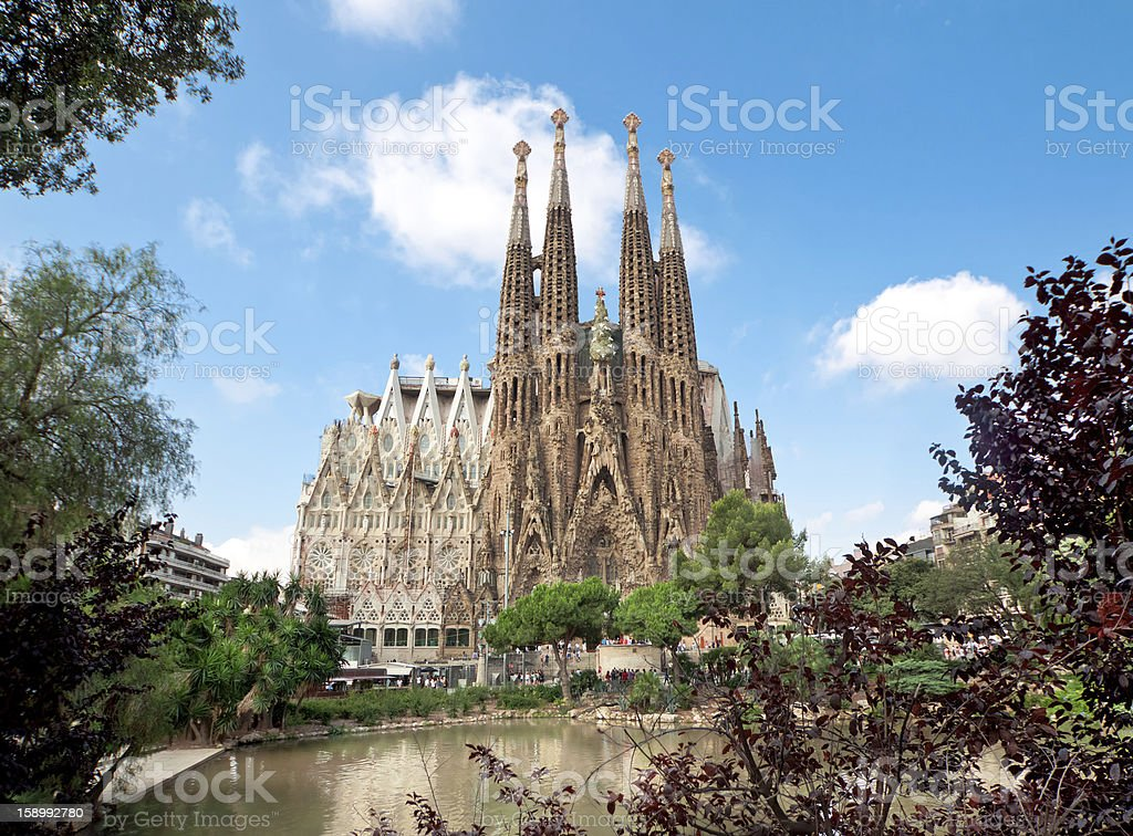 Sagrada Familia Temple in Barcelona stock photo