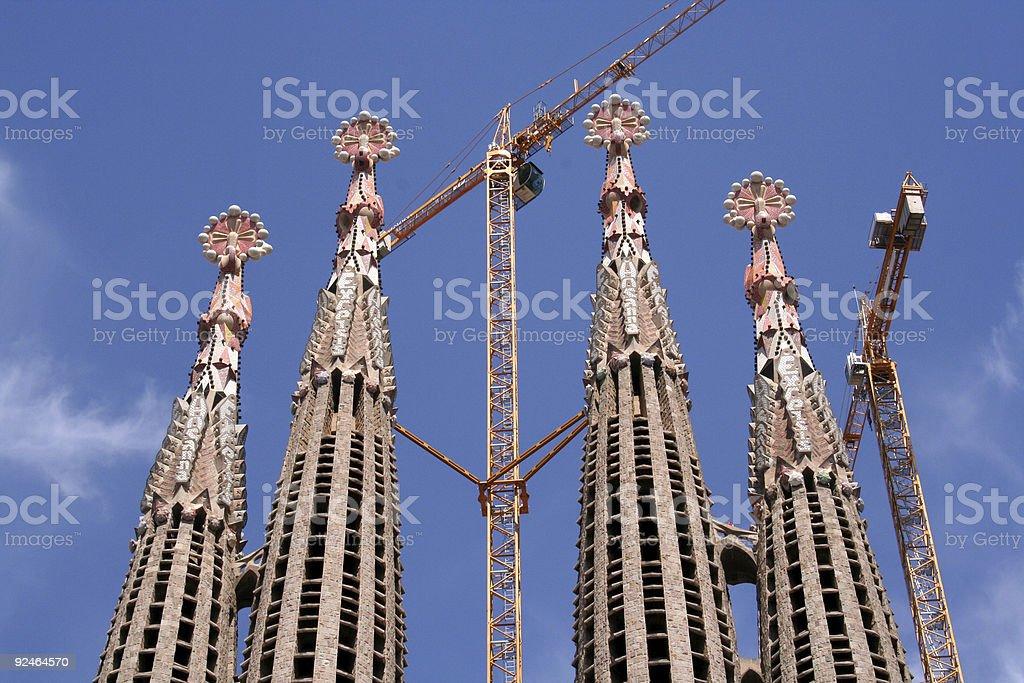 Sagrada familia towers royalty-free stock photo