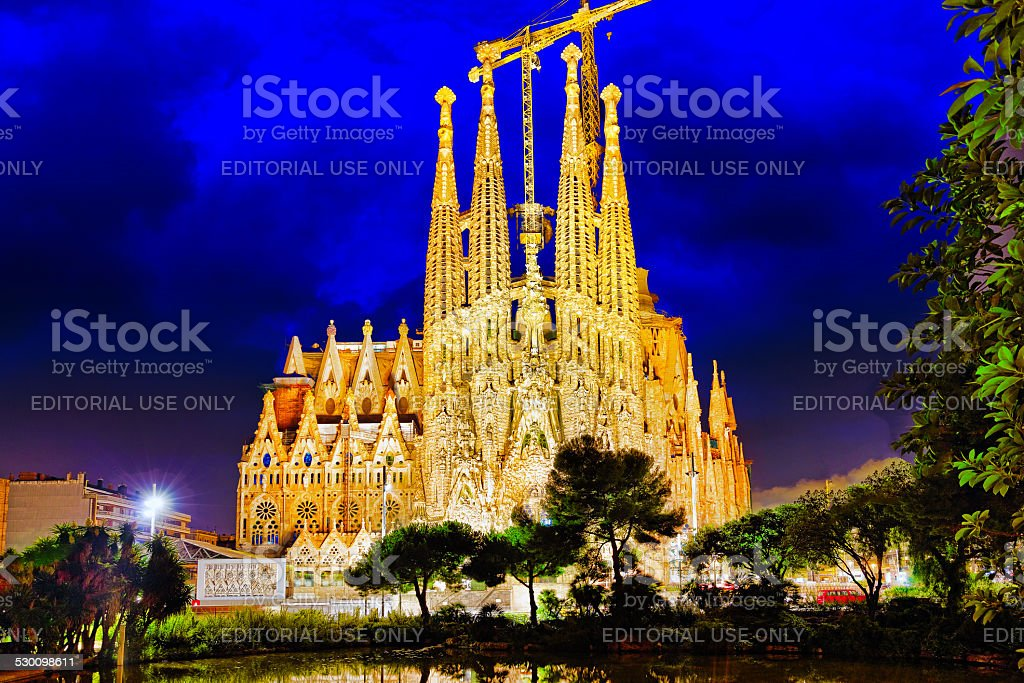 Sagrada Familia,beautiful and majestic  outdoor  view stock photo
