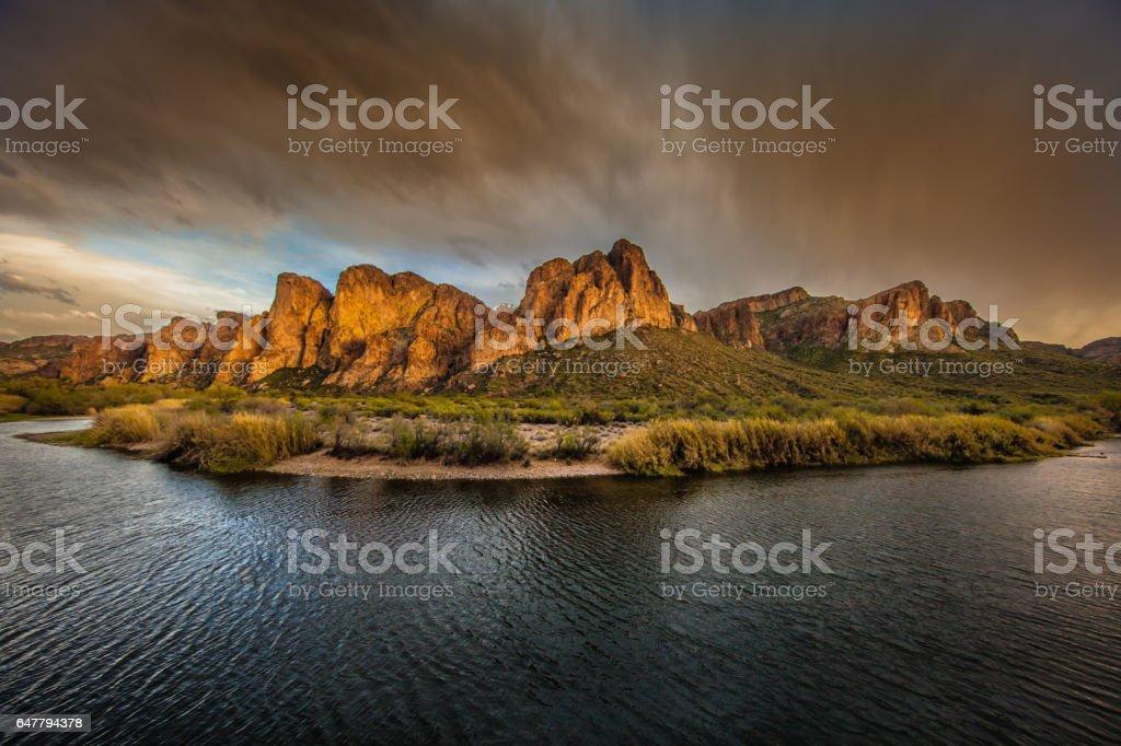 Saguaro River stock photo