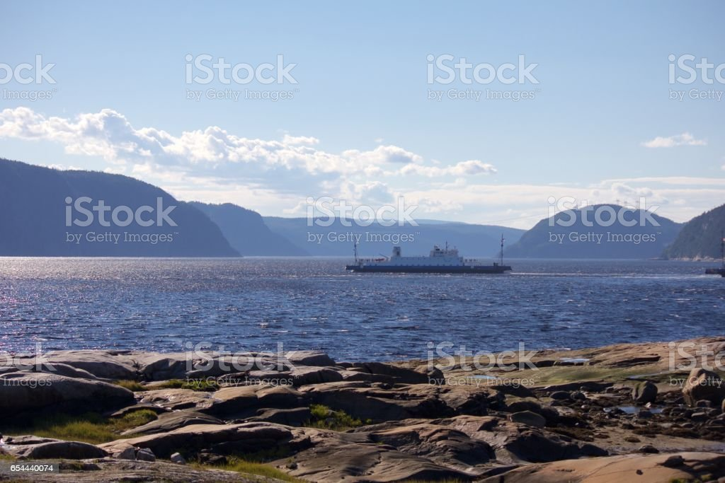 Saguenay Fjord Ferry stock photo