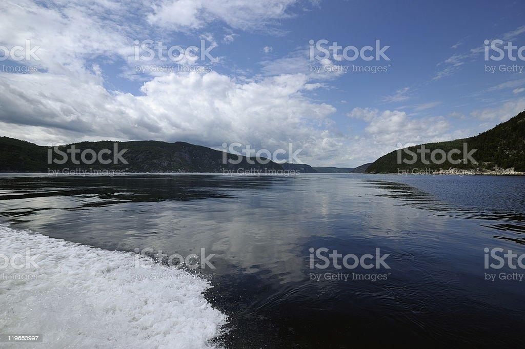 Saguenay Fjord stock photo