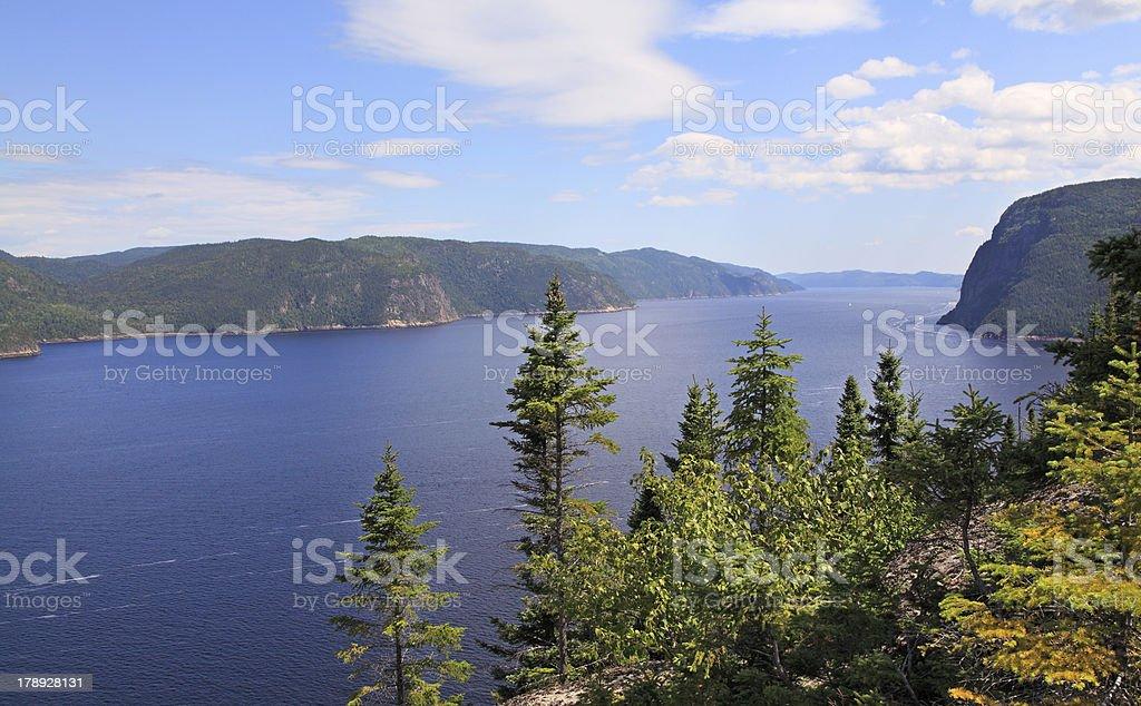 Saguenay Fjord, Quebec, Canada royalty-free stock photo