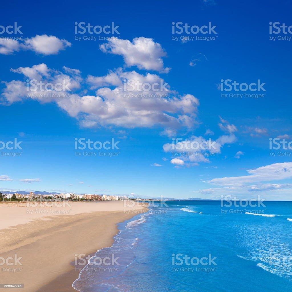 Sagunto beach in Valencia in sunny day in Spain stock photo