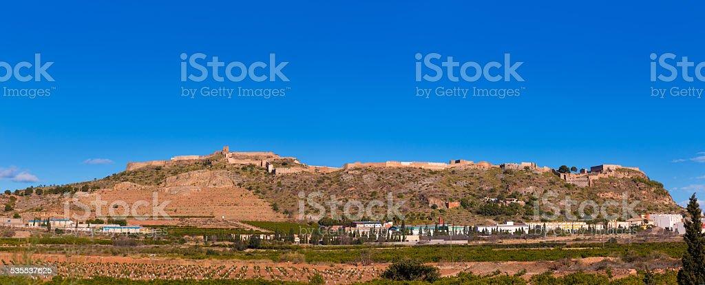Sagunto Castle in Calderona Sierra of Valencia Spain stock photo