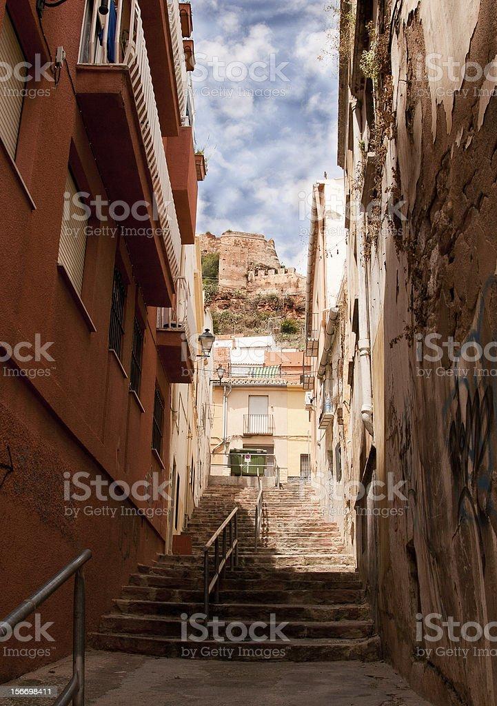 Sagunto Spain. View on The Castle of Sagunto. stock photo