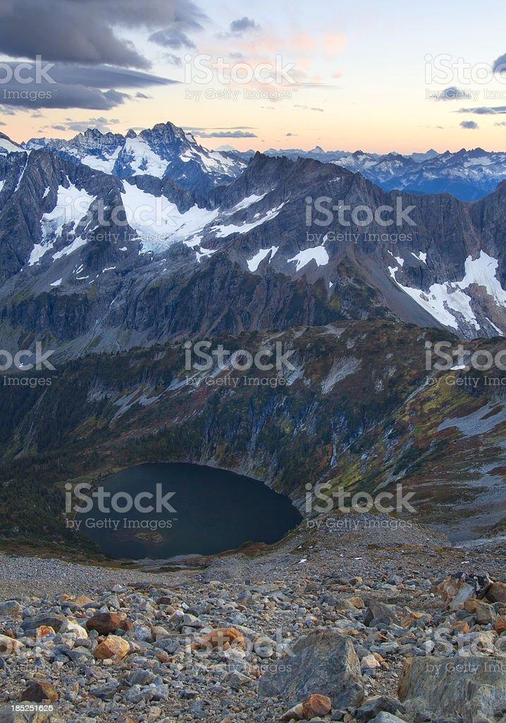 Sahale Arm and Glacier North Cascades National Park stock photo