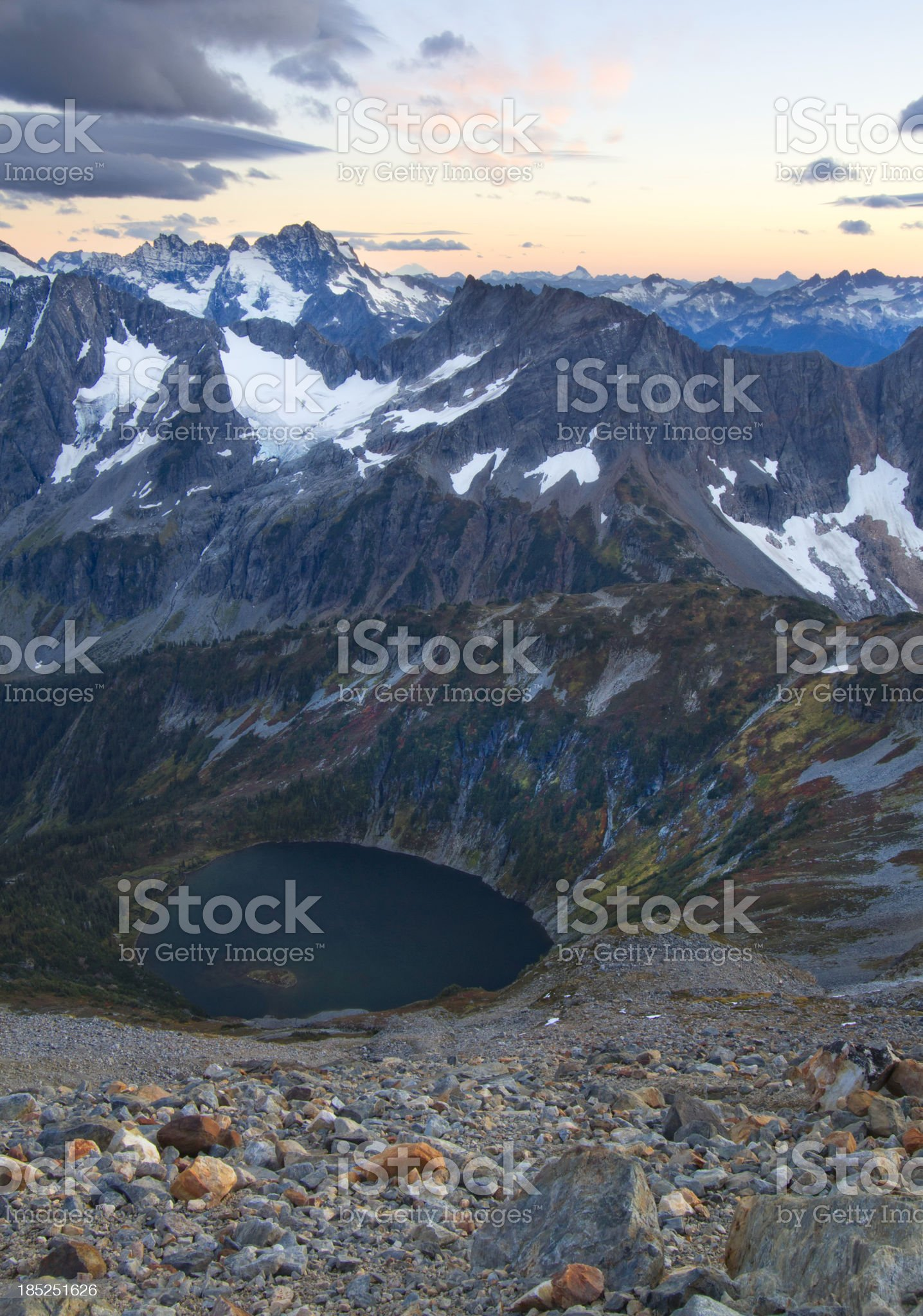 Sahale Arm and Glacier North Cascades National Park royalty-free stock photo