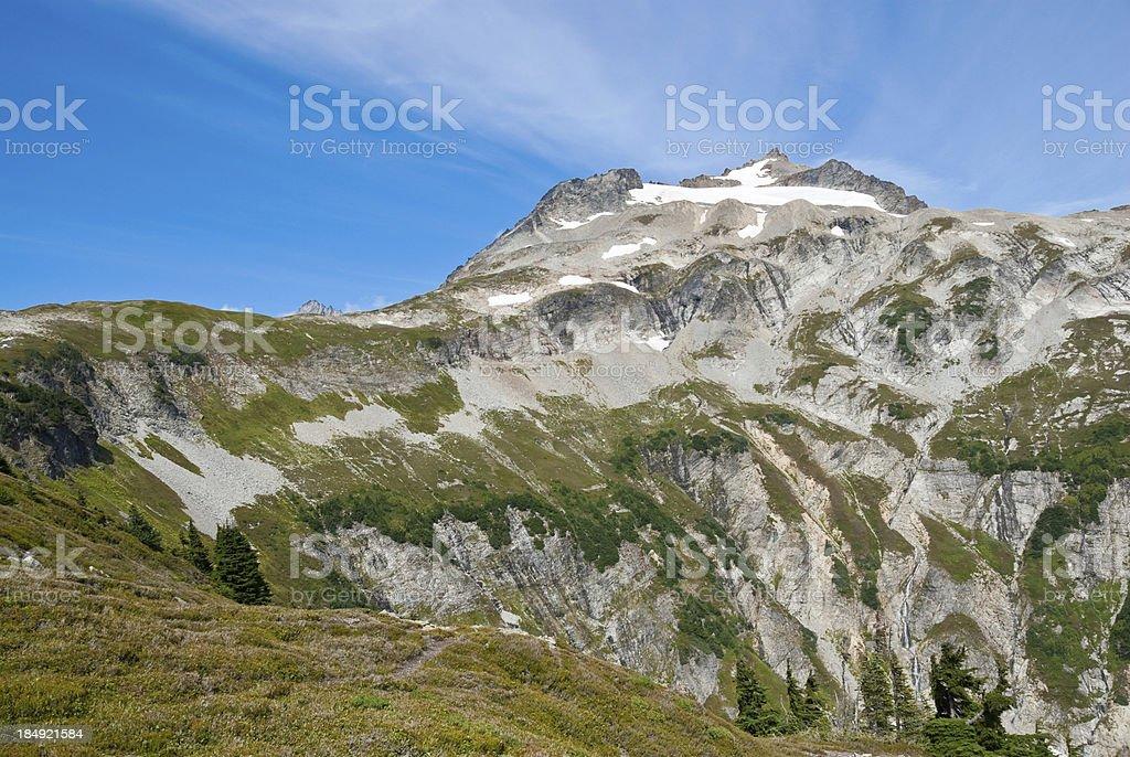 Sahale Arm and Mountain stock photo