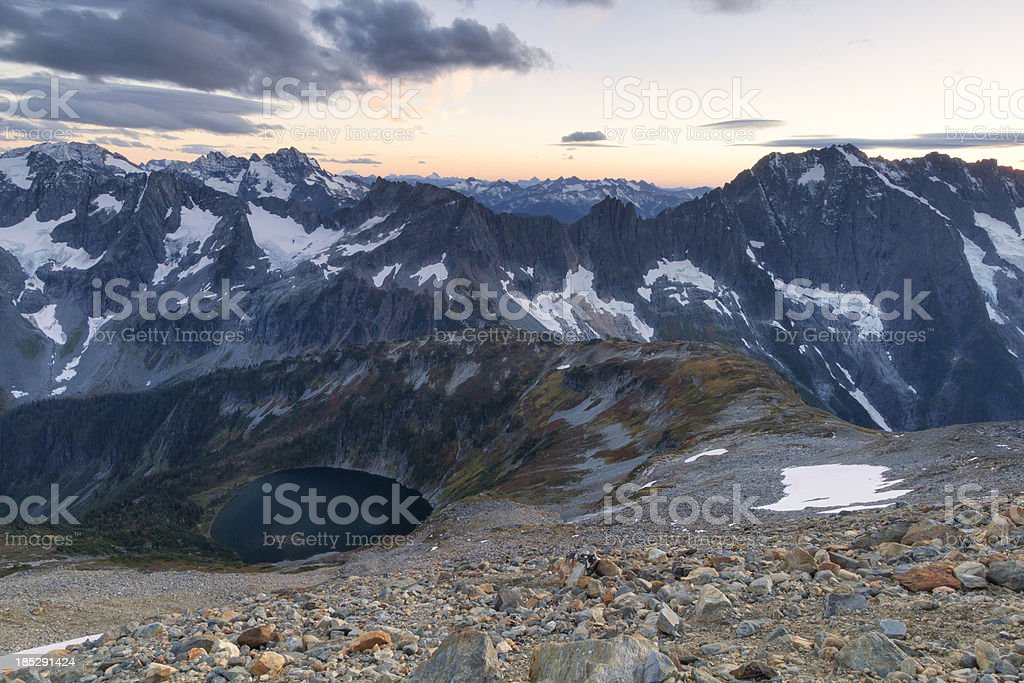 Sahale Glacier North Cascades National Park royalty-free stock photo