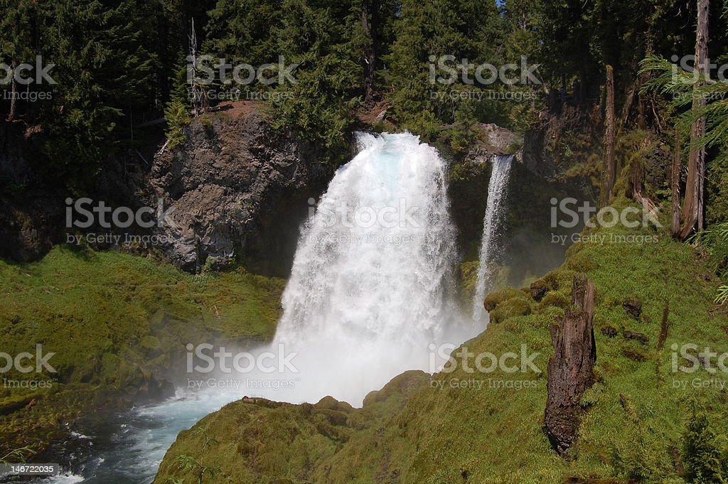 Sahalie Falls in West Oregon Lizenzfreies stock-foto