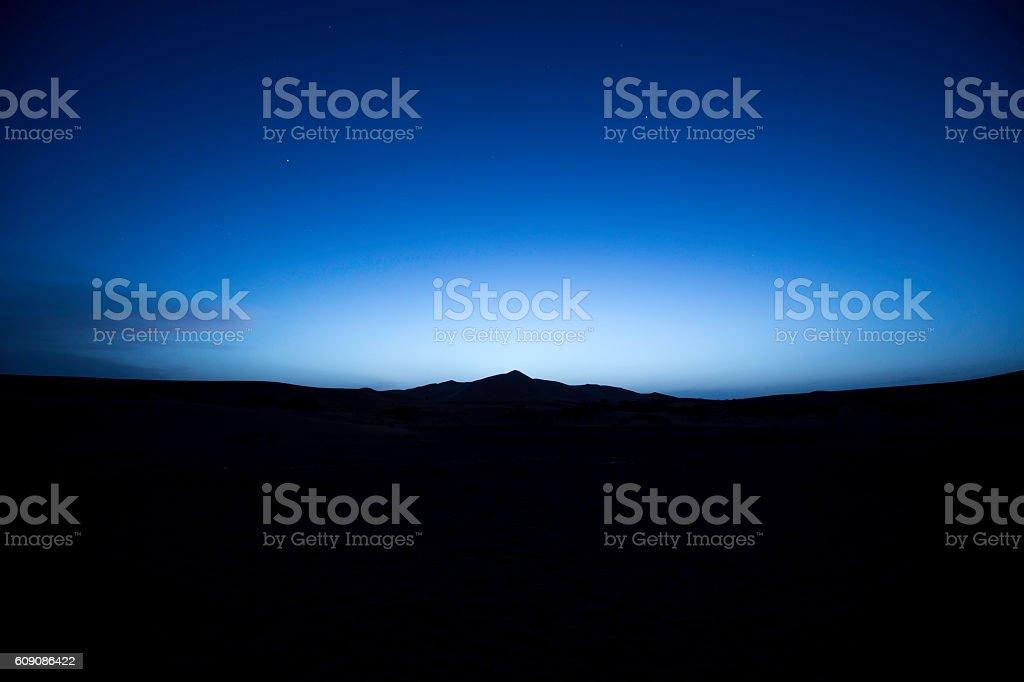 Sahara desert at night stock photo