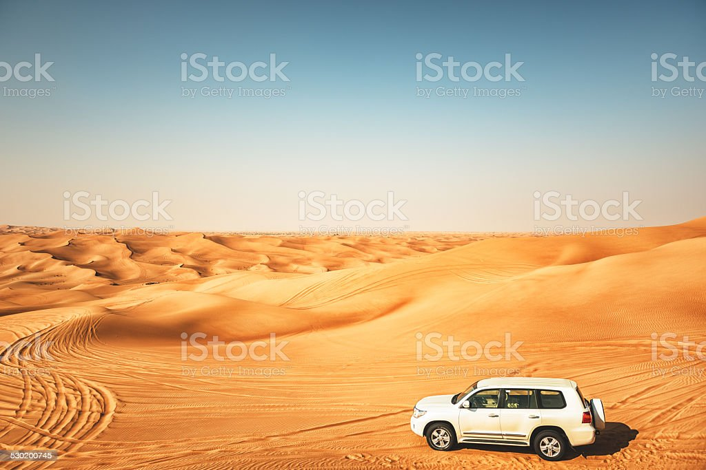 sahara desert landscape aerial view stock photo