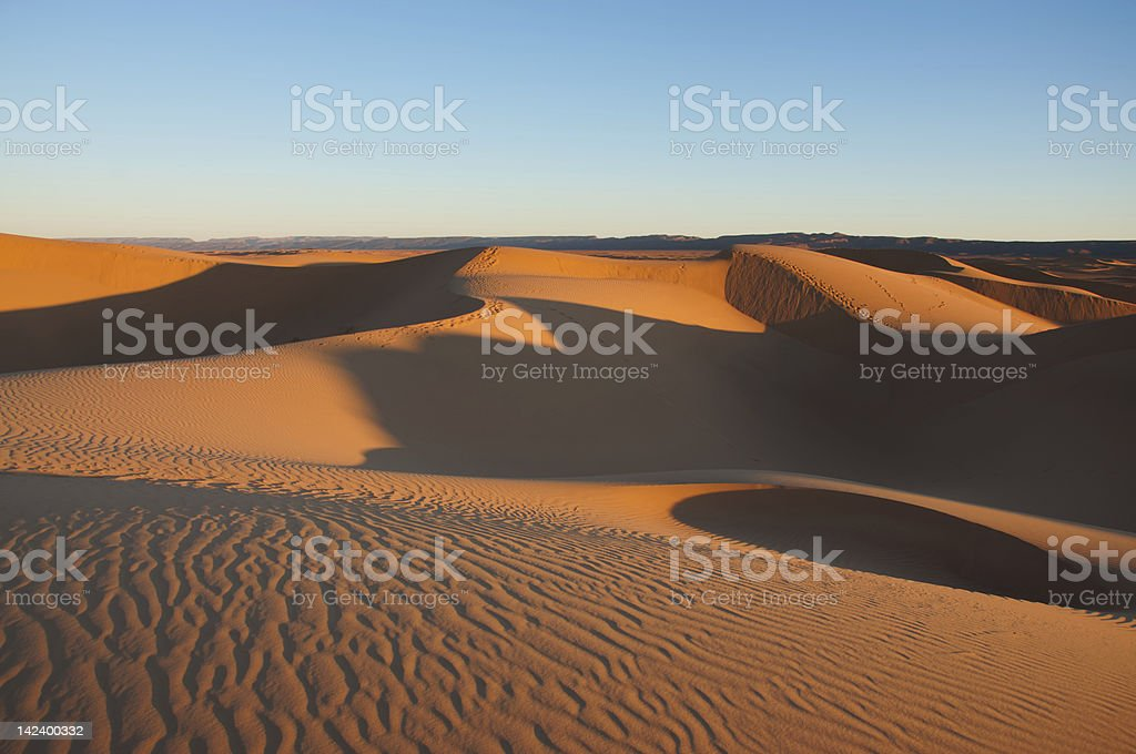 Sahara desert, Morocco stock photo