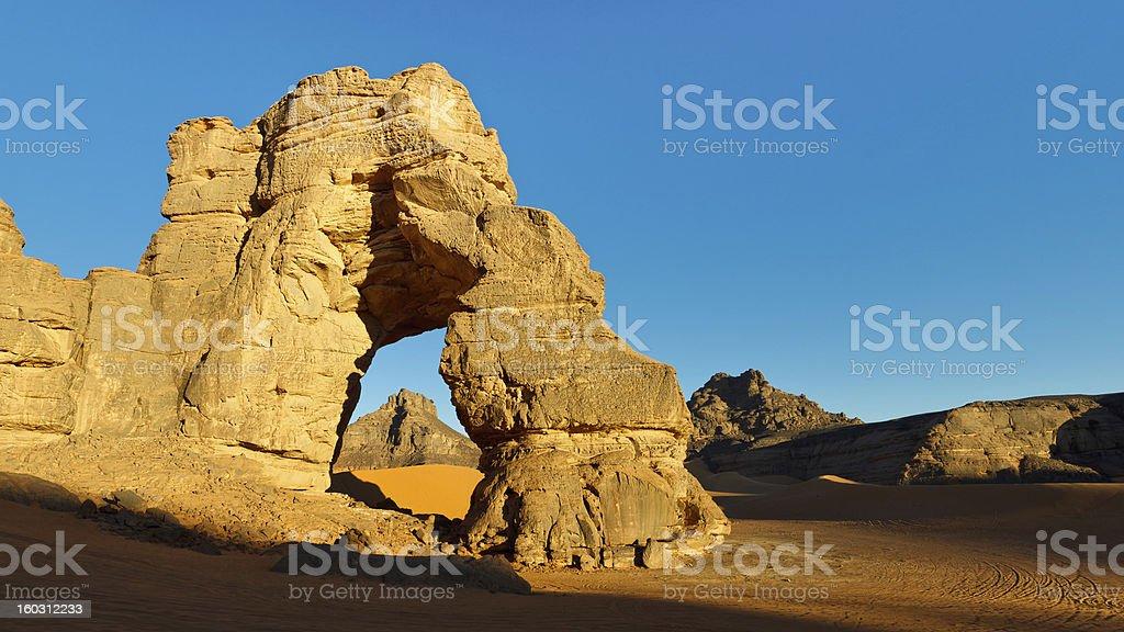 Sahara Desert Rock Arch stock photo