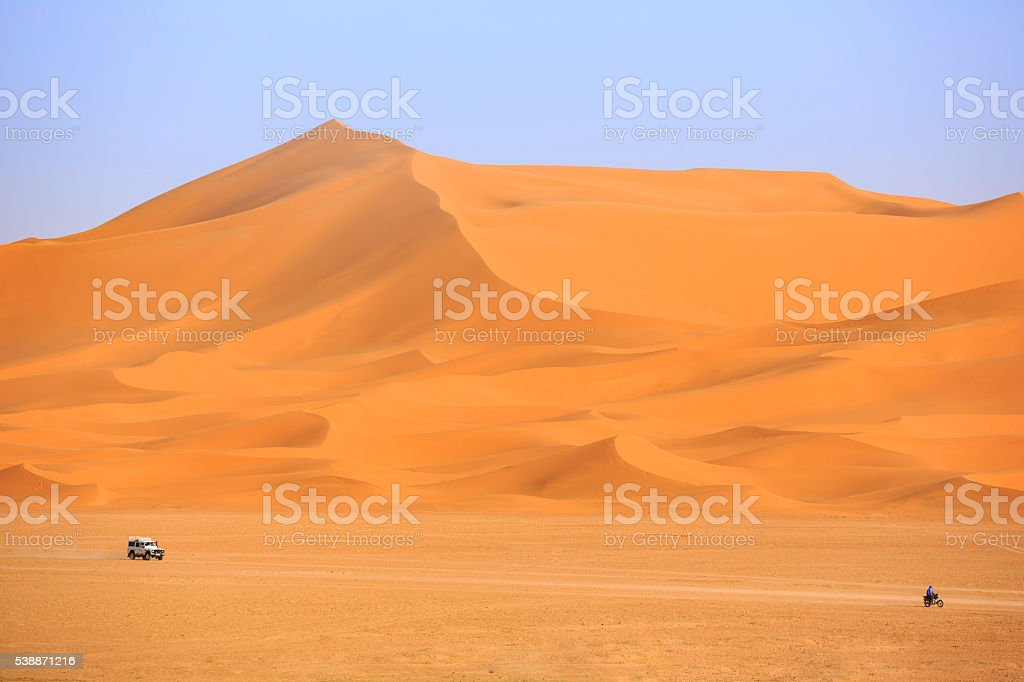 Sahara Desert safari stock photo
