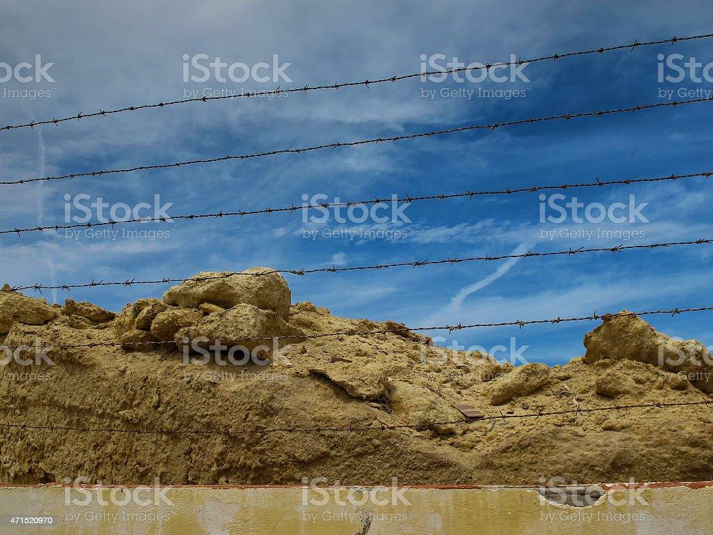 Sahara fence stock photo