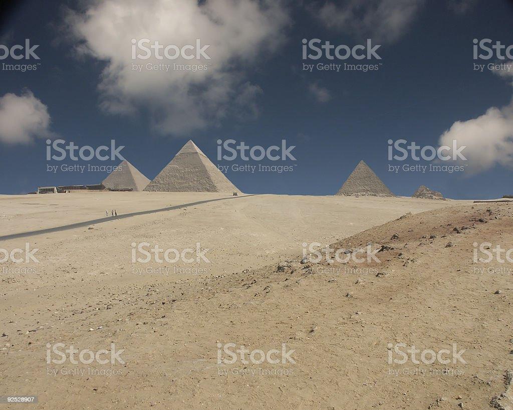Sahara Pyramids royalty-free stock photo