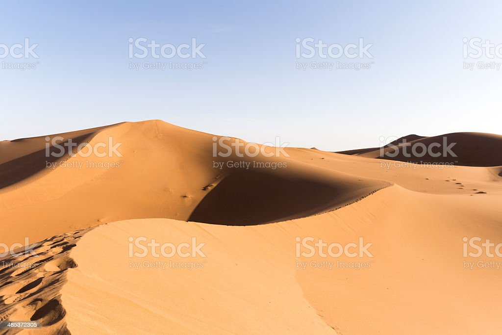 sahara sand dunes royalty-free stock photo