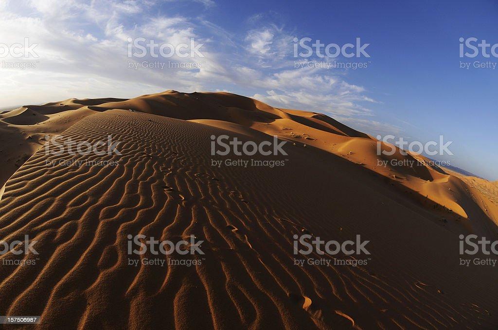 Sahara Shadows royalty-free stock photo